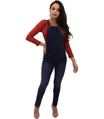 macacão gestante & cia clara longo legging jeans