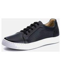 sapatenis clássico masculino macio b2c shoes tchuwm 4023 preto
