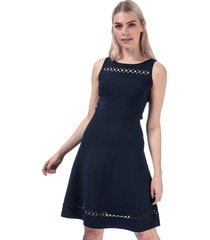 womens kai crepe fit and flare dress