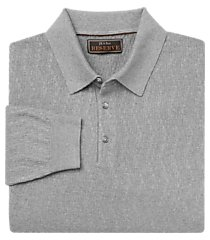 reserve collection traditional fit long sleeve men's polo sweater - big & tall clearance