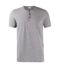 dolce & gabbana camiseta com botões - cinza