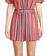 scarlet striped flutter shorts