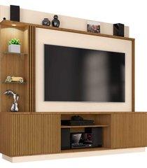 estante atlanta p/ tv até 65 polegadas cinamomo/off-white móveis bechara