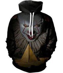 2017 it 3d pennywise clown pullover hoodie unisex digital print sweatshirts