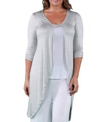 24seven comfort apparel women's plus size cardigan
