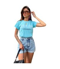blusa in love t-shirt sol e mar azul