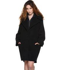 płaszcz oversize czerń