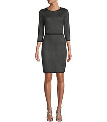 central park dot sheath dress