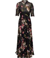 delicate semi lace gown maxi dress galajurk zwart by ti mo