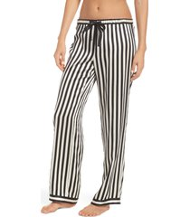women's morgan lane stripe chantal pajama pants, size medium - black