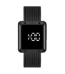 relógio digital euro feminino - eubj3937ac4f preto