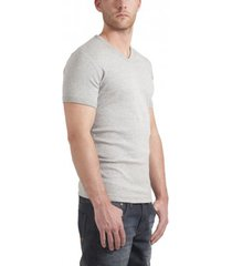garage t-shirt v-neck semi bodyfit light grey ( art 0302)