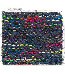 coohem knit tweed medium wallet - blue