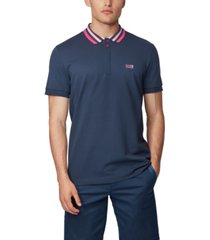 boss men's paddy 1 cotton-pique polo shirt
