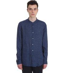 ermenegildo zegna shirt in blue cotton