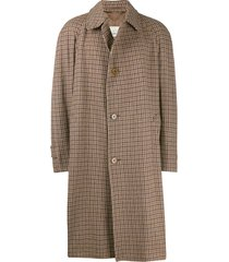 a.n.g.e.l.o. vintage cult 1990's tweed overcoat - brown