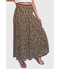 falda pippa larga multicolor - calce regular