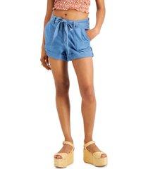 dollhouse juniors' tie-waist cotton shorts