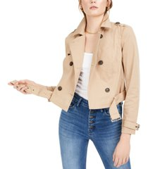 bar iii cropped trench coat, created for macy's