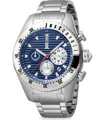 sport stainless steel chronograph bracelet watch