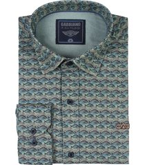 overhemd met all-over vis print