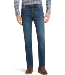 jos. a. bank men's 1905 collection tailored fit jeans - big & tall clearance, stone, 46x29