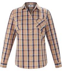 blouse van 100% katoen met lange mouwen van anna aura beige