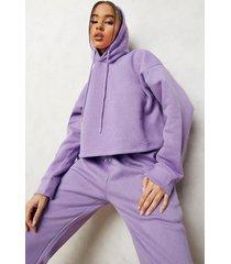 oversized korte hoodie, purple