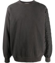 ambush quilted back sweatshirt - black