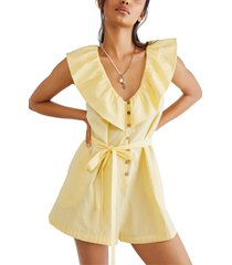 women's free people darling romper, size x-large - yellow
