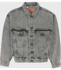 chaqueta gris levis