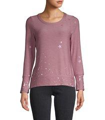 star & paint splatter sweatshirt
