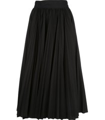 proenza schouler pleated poplin wrap skirt - black