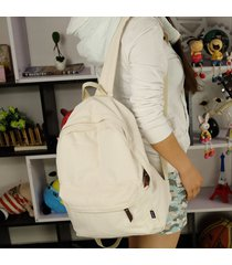 canvas backpack pretty style candy color student book bag design simple high cap