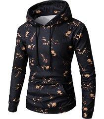 flower print pullover hoodie