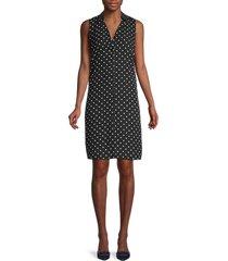 nanette nanette lepore women's polka dot button-front sheath dress - black - size 6