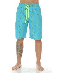 pantaloneta de baño sublimada, palmeras para hombre