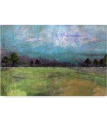 "jean plout 'abstract aqua sky landscape' canvas art - 24"" x 16"""