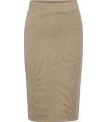 vimany pencil skirt /rx knälång kjol beige vila