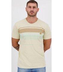 camiseta hang loose silk stripe bege - masculino