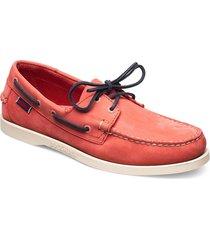 docksides båtskor skor orange sebago