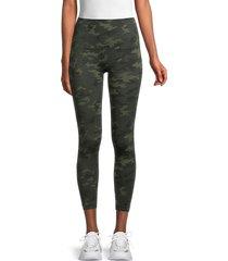 bagatelle women's camo seamless leggings - green camo - size l