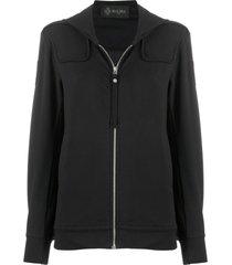 black sweatshirt plisse for woman