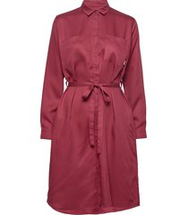 aava dress knälång klänning röd makia