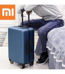 xiaomi 90fun 20 pulgadas pc maleta llevar equipaje de vacaciones tsa lock viajes de negocios - azul