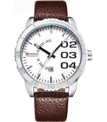 relógio curren analógico masculino
