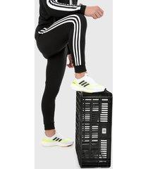 pantalón negro-blanco adidas performance essentials 3