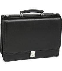 mcklein bucktown double compartment laptop briefcase
