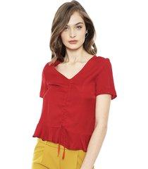 blusa eclipse dinah rojo - calce holgado