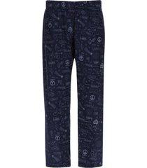 pantalón descanso happy color azul, talla s
